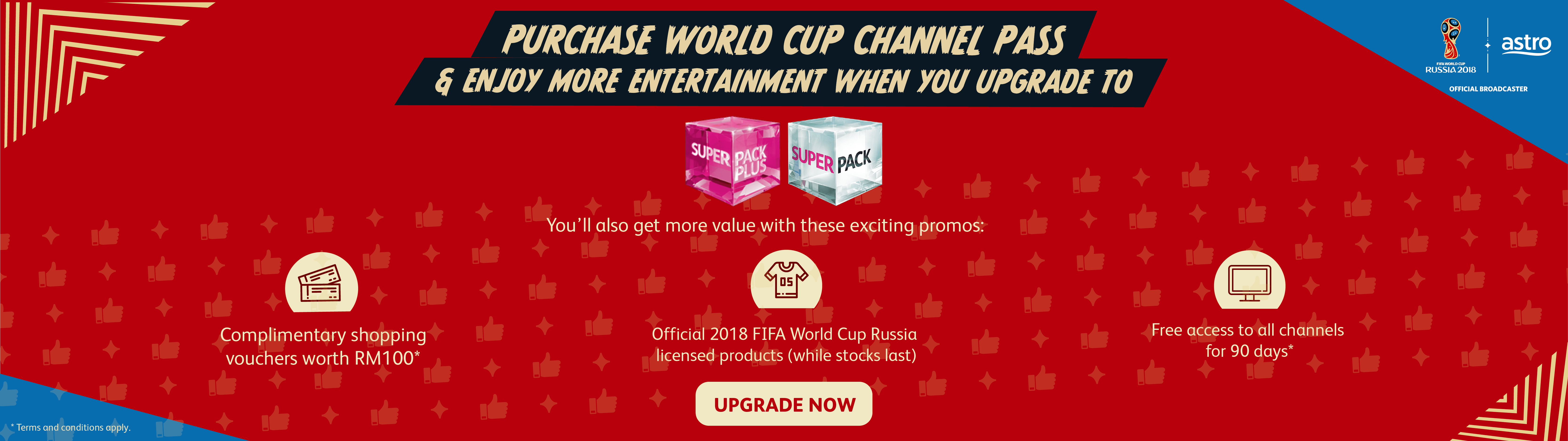 Get World Cup Channel Pass & Win A 1-Year Astro Subscription!